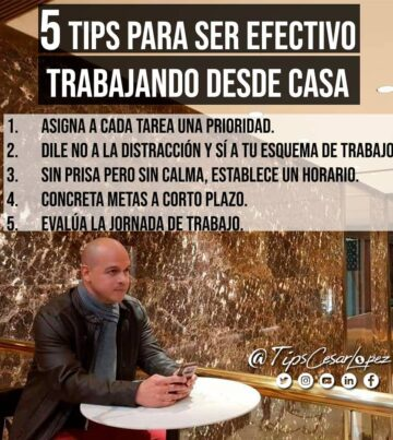 5 tips para ser efectivo para trabajar desde casa